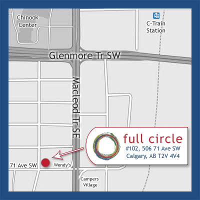 Map to Full Circle Calgary